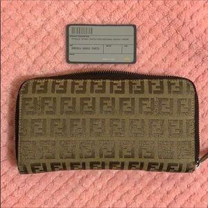 Long Fendi Mini Zucca Wallet!